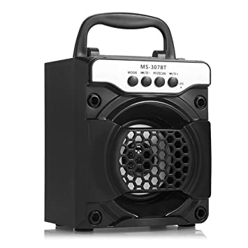 MS-307BT Altavoz Bluetooth inalámbrico portátil con Luces ...