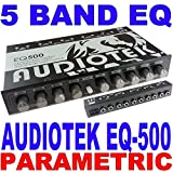 Audiotek 5 BAND PARAMETRIC EQUALIZER EQ CAR SUB CONTROL AUX INPUT INDASH AT-EQ50