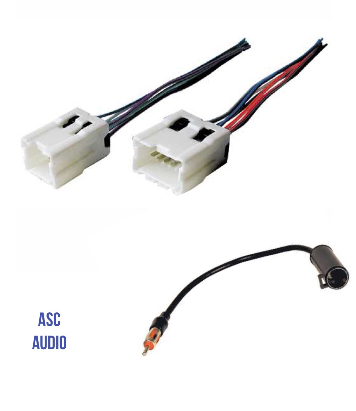 ASC Audio Car Stereo Radio Wire Harness and Antenna Adapter to Aftermarket Radio for some Infiniti Nissan etc.- Vehicles listed below