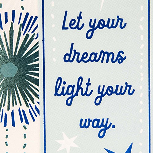 Hallmark Graduation Greeting Card with Removable Bookmark (Let your Dreams Light Your Way) Photo #7