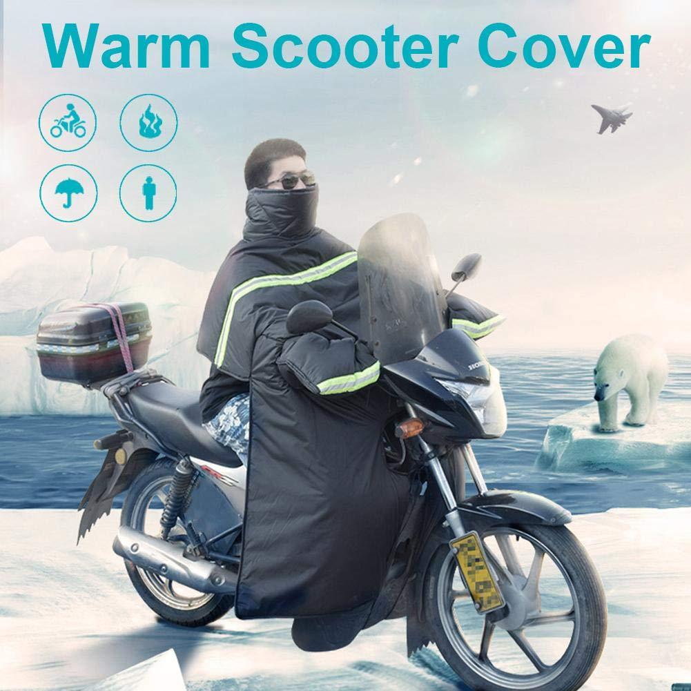 Couverture de Pare-Brise de Moto de Velours /épais dhiver Couverture Universelle de Jambe pour la Moto de Scooter genouill/ères Chaudes Couverture de Tablier de Jambe de Scooter de Moto imperm/éable