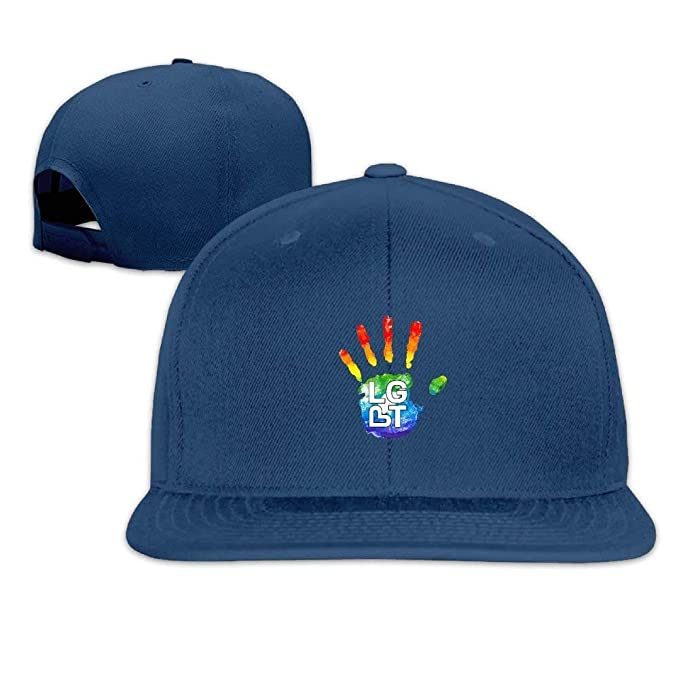8a8da404 Image Unavailable. Image not available for. Color: Funny Mens Womens LGBT  Cool Flat Bill for Men Adjustable Visor Sun ...
