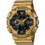 Casio G Shock Black Dial Gold-Colored Resin Mens Watch GA110GD-9B