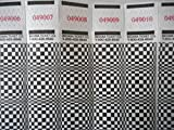 500 Optical Checkers Tyvek Wristbands (Black)
