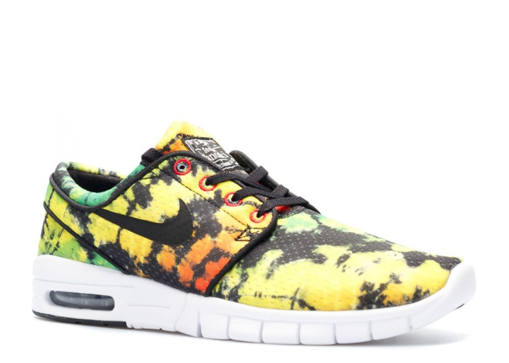 nike SB stefan janoski MAX PRM mens trainers 807497 sneakers shoes (us 12, tour yellow black green pulse 703) by NIKE