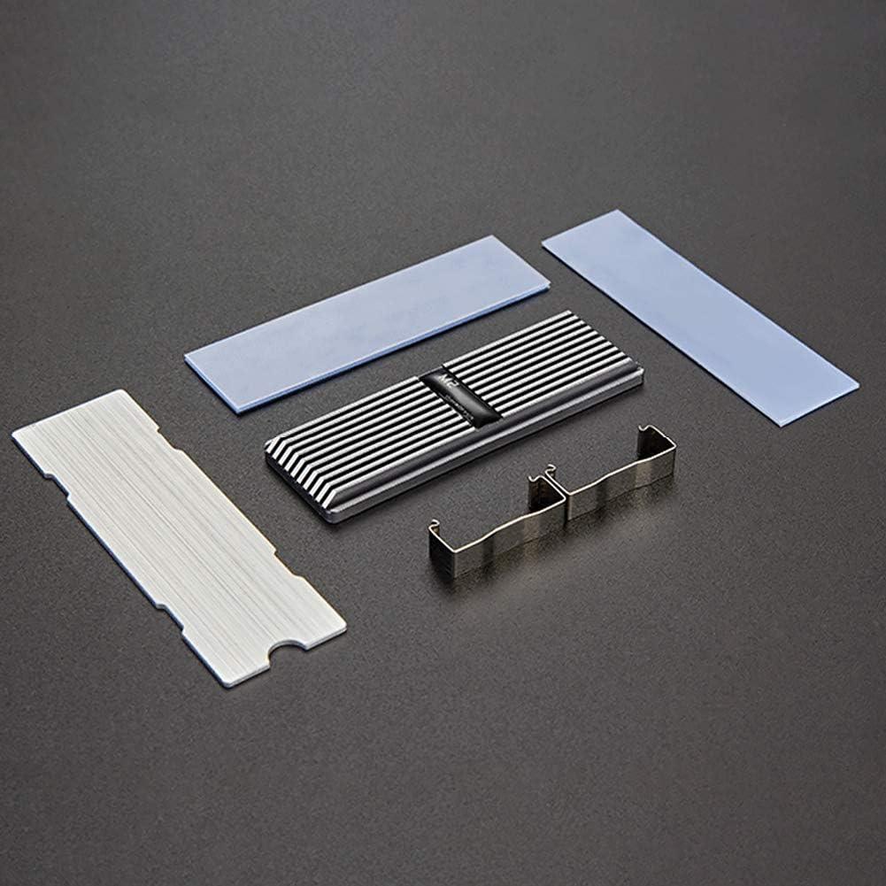 Gasket Desktop PC Cooler SSD Heatsink Thermal Pad M.2 Radiator Chipset Heat Sink Cooling Fin OERTUFU Aluminum M.2 SSD heatsink