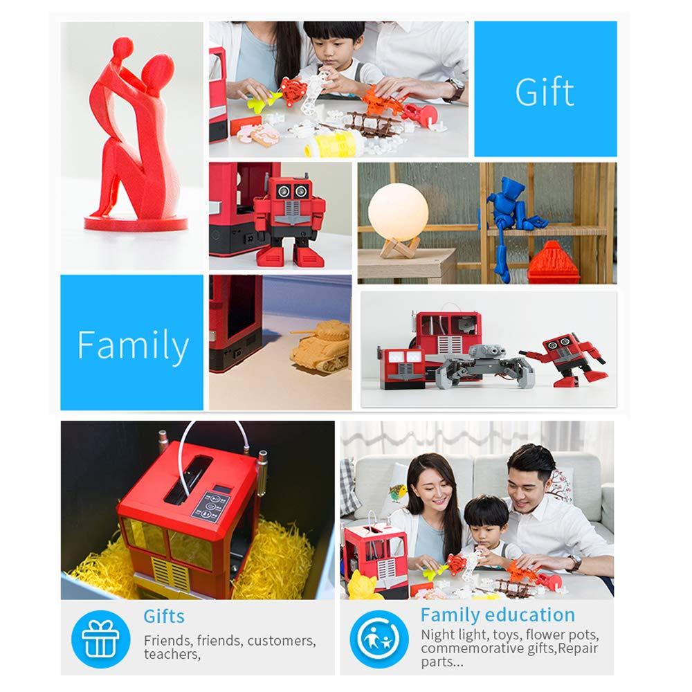 id/éal pour les enfants et les amateurs de bricolage Winhotech 3D Printer CR-100 Imprimante 3D de petite taille 241 * 183 * 255mm Orange