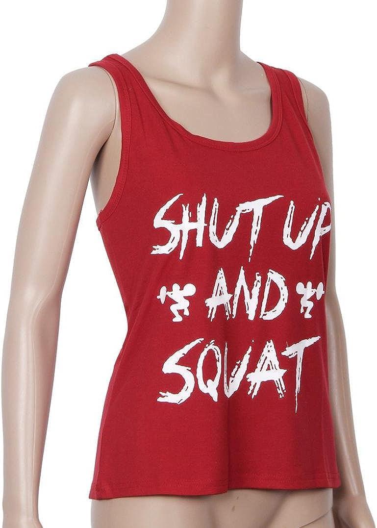 ZEFOTIM Women Workout Tank Top T-Shirt Gym Clothes Fitness Yoga Lift