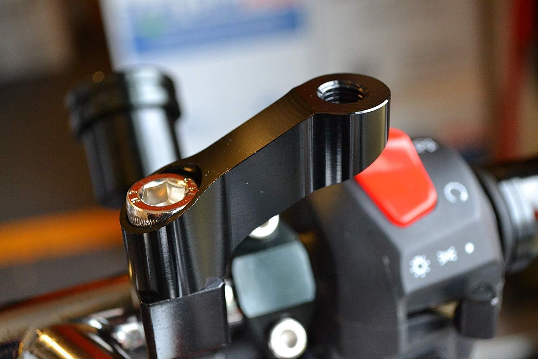 Motorrad Spiegel Verlängerungen 6cm Lang 10mm M10 Gewinde Paar Im Uhrzeigersinn Gewinde Auto