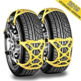 Tire Chains, Arespark Car Snow Chains 6pcs Anti - Slip Tire Chain for SUV, Passenger Cars, Most Cars, Easy to Install