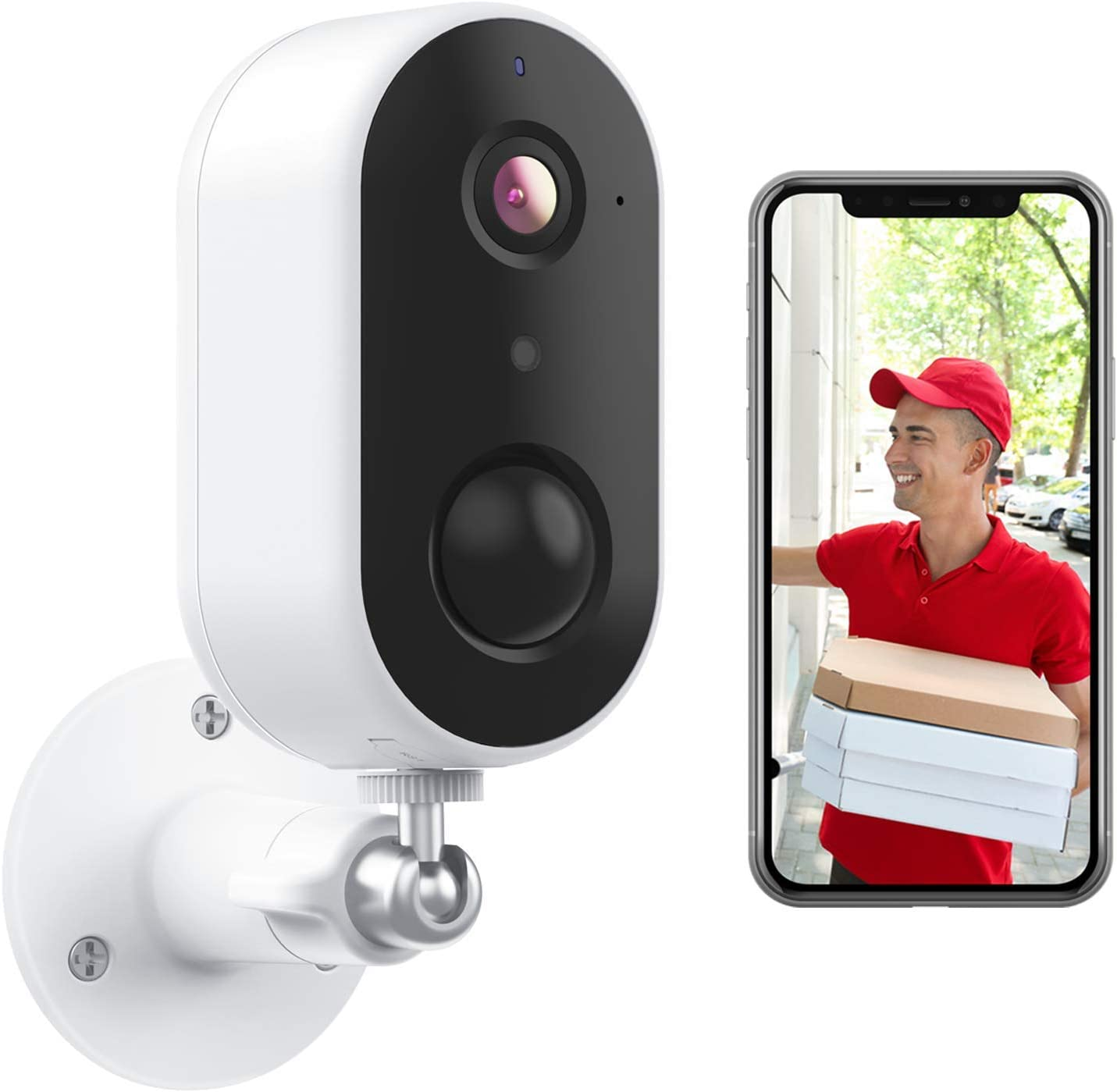 Night Vision GO1 Outdoor Home Security Camera with IP65 Waterproof Arenti Rechargeable Battery Powered WiFi Camera Motion /& Sound Detection 2-Way Audio ?1080P Surveillance Camera Works with Alexa