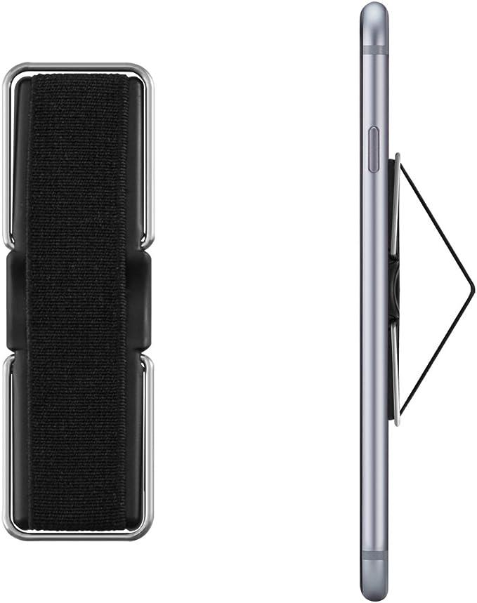 kwmobile Agarre elástico para Smartphone con Soporte metálico ...