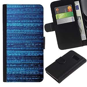 Planetar® Modelo colorido cuero carpeta tirón caso cubierta piel Holster Funda protección Para Samsung Galaxy S6 / SM-G920 ( Code Pattern Mysterious Sci-Fi )