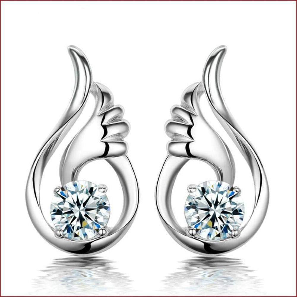 Erin Earring 413 Estilo De Marca Famosa Glamour Moda Angel Wing Girl O Lady Ear Studs E3415