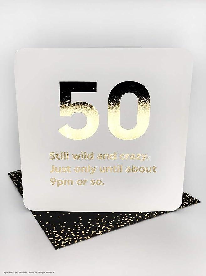Divertida tarjeta de felicitación de 50 cumpleaños con texto ...