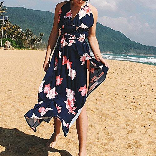 Type Nu Floral Dress C Et Vingtage Jupe Sans Manche Jolisson Femme Casual Robe Vacances Fente Fille Haut Imprim Longue Plage Confort Dos Mode Dbardeur BvW7740