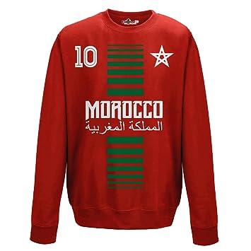 KiarenzaFD Sueter de Cuello Redondo Sudadera Hombre Nacional Deporte Morocco Marruecos Maroc 10 Futbol Deporte Africa Stella 1 Streetwear: Amazon.es: ...