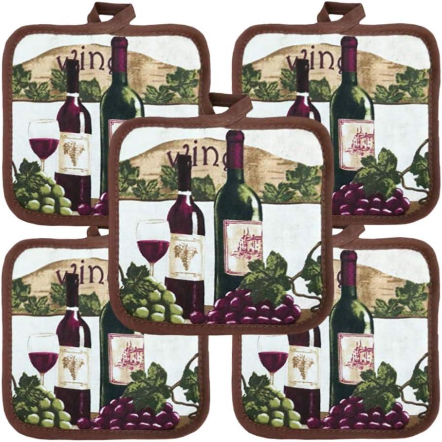 Amazon Com American Linen Bulk Potholders 10 Pack Everyday Quality 6 5 Square Wine Decor Home Kitchen