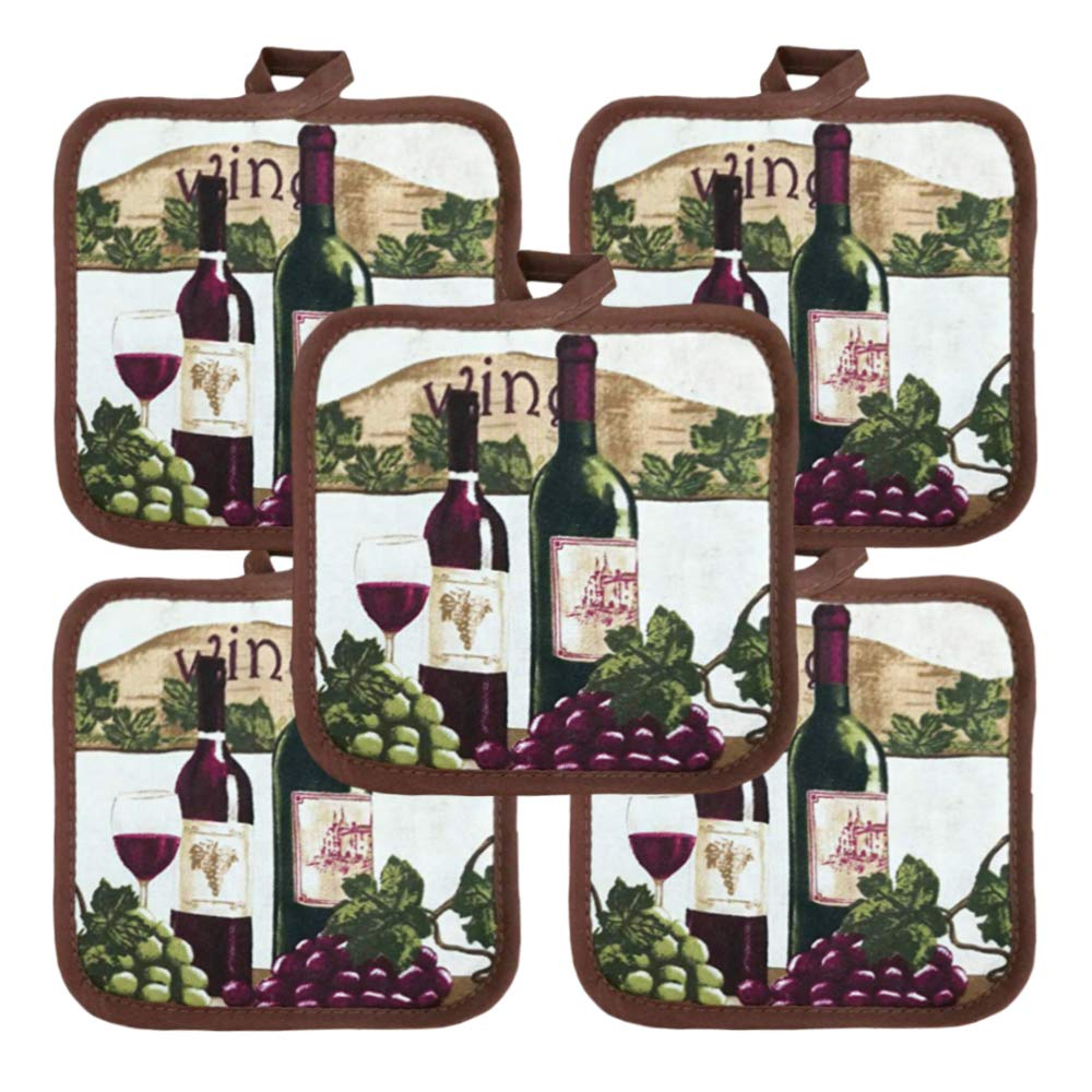 "American Linen Heat Resistant Pot Holders 6.5"" Square Solid Color (Pack of 10) 