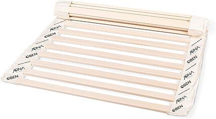 JONA SLEEP - Somier enrollable (100 x 200 cm, madera maciza ...
