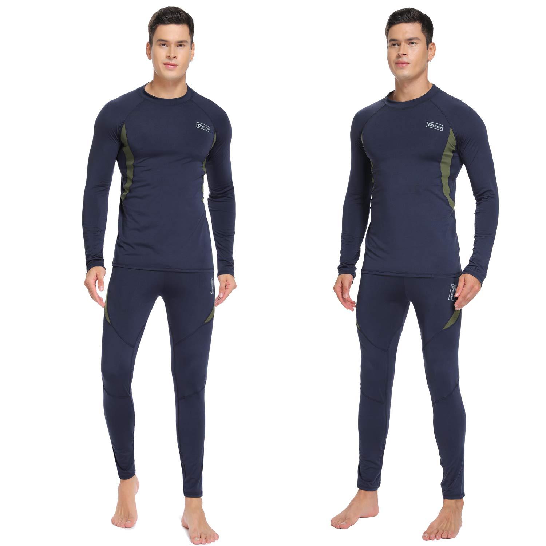 UniqueBella Suit Esqu/í T/érmica Ropa Interior T/érmica Manga Larga Camiseta Deportes de Invierno T/érmica Pantalones Largos Conjuntos t/érmicos para Hombre