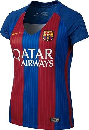 NIKE FC Barcelona W SS Hm Stadium JSY Camiseta de Manga Corta Mujer