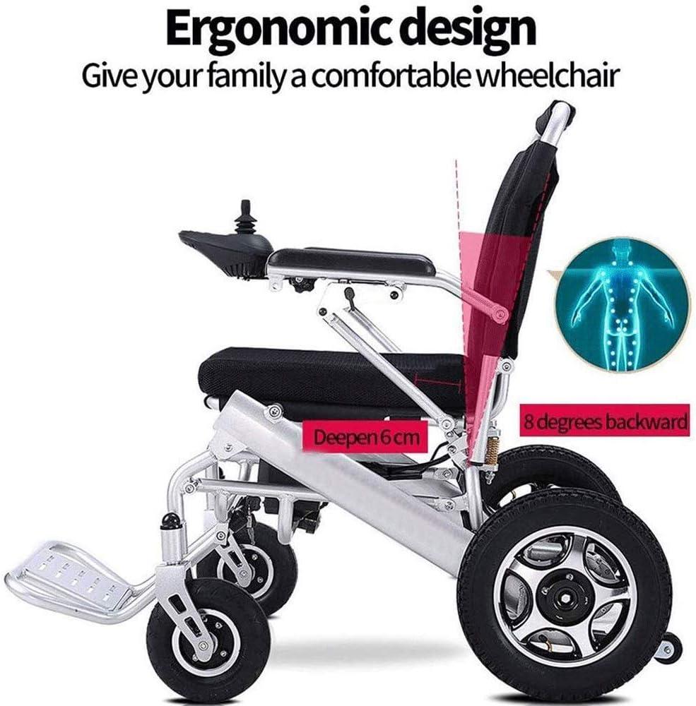 2020 Ultra silla de ruedas ligera eléctrica, doble amortiguadora de golpes de aleación de aluminio rápido silla de ruedas eléctrica plegable, ancianos discapacitados Scooters inteligentes pueden ser a