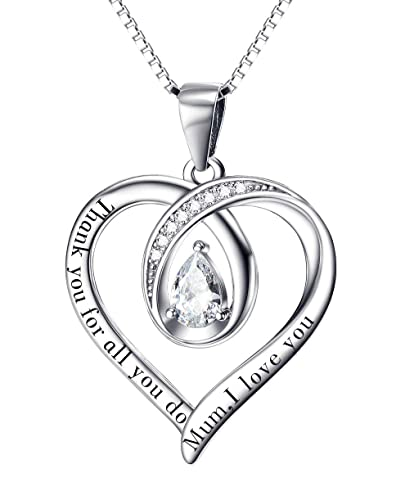 Gifts For Mum Necklace Birthday Silver I Love