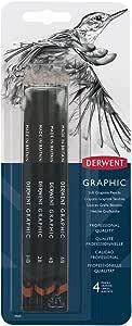 Derwent Graphic Pencils, Soft, Pack, 4 Count (39005)