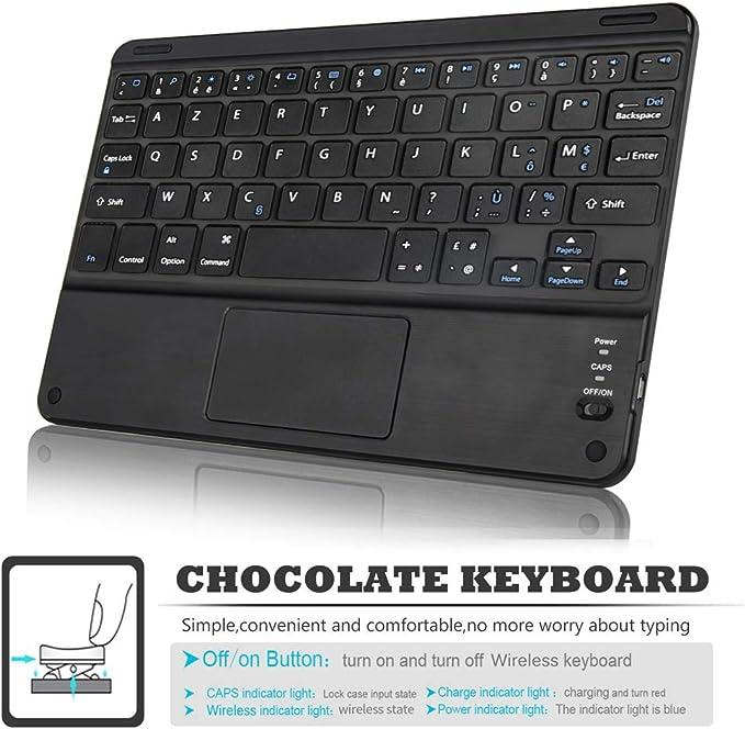 Clavier Fran/çais Forhouse Compatible avec Samsung Galaxy Tab S6 10.5 2019 SM-860//T865 Clavier sans Coque Clavier /Étui de Protection Keyboard Case Coque pour Galaxy Tab S6 10.5 2019 SM-860//T865