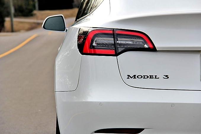 NEW 3D adhesive rear MODEL 3 Gloss Black badge emblem fits TESLA MODEL 3 1