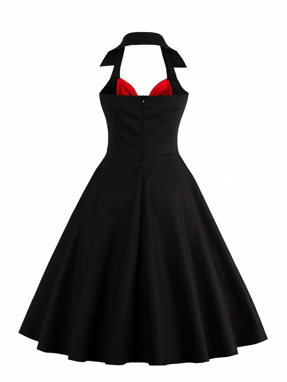 Babyonline Vintage Halter Cocktail Dress 1950S Retro Swing Homecoming  Dresses at Amazon Women s Clothing store  cc3edbf8ad4b