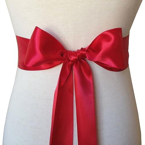 "Wedding Sash Bridal Belts Simple Classic Silk Ribbon Sash for Dress 2"" Wide"