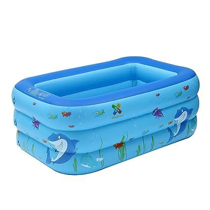 Amazon.com: Large Inflatable Shark Swimming Pool Kids Water ...