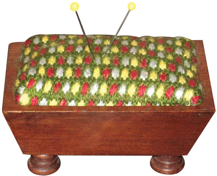 Sudberry House 15791 Vintage Pincushion, 3-3/4-Inch, Mahogany by Sudberry House