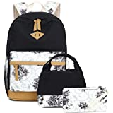 "Goodking Lightweight Canvas Backpack for Women College Bookbag Travel Daypack 15.6"" Laptop Bag"