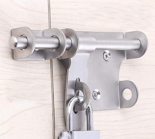 antirrobo protección Puerta de seguridad Perno Pestillo bloqueo, pernos de bloqueo deslizante para puertas y ventanas: Amazon.es: Bricolaje y herramientas