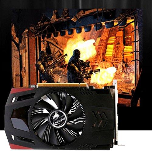 Gotd Black 2GB NVIDIA GeForce GT730 2GB DDR5 PCI-Express 2.0 Video Graphics Card HD/VGA/DVI by Goodtrade8