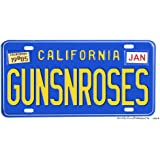 California Guns N Roses Aluminum License plate