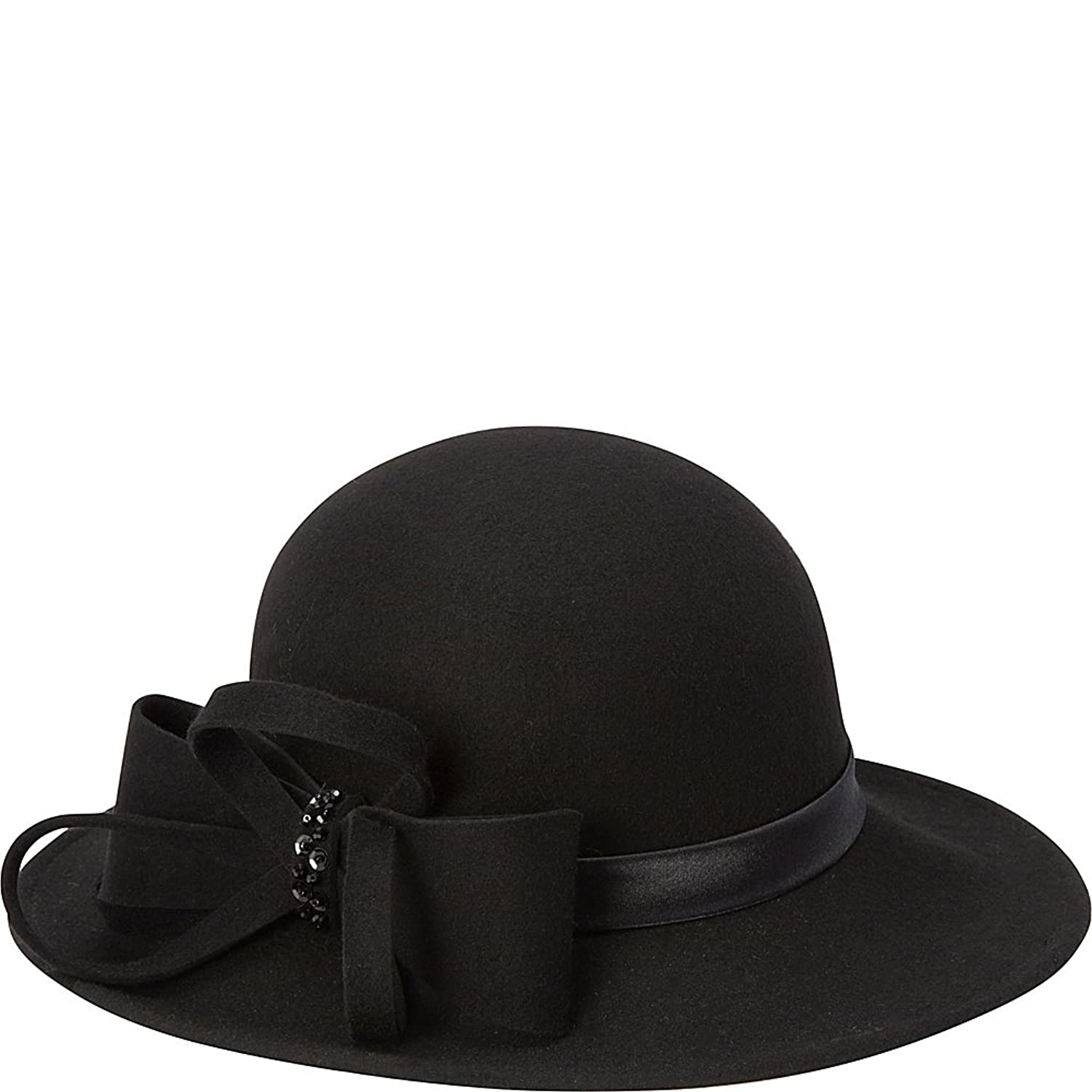 Edwardian Style Hats, Titanic Hats, Derby Hats Betmar New York Frederica Felt Floppy Hat $56.09 AT vintagedancer.com