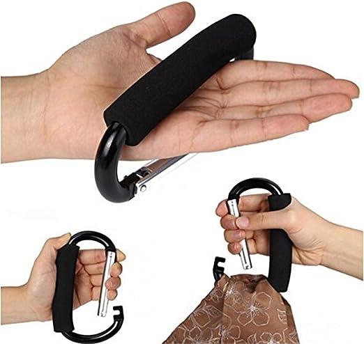OMUKY D-anillo grande mosquet/ón soporte de asa bolsa multifunci/ón mosquet/ón de aluminio esponja clip 2 piezas bucle de gran tama/ño
