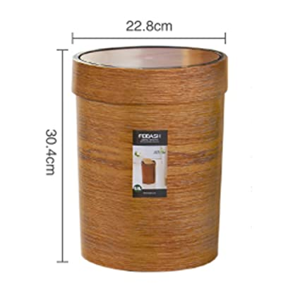 Amazon Com Skkgn Wooden Trash Can Kitchen Living Room Garbage