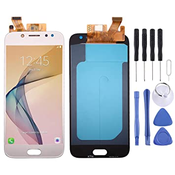 J530F//DS Color : Gold 2017 Black Mobile Phone LCD Screen Replacement OLED Material LCD Screen and Digitizer Full Assembly for Galaxy J5 J530Y//DS