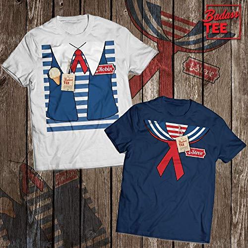 Robin & Steve Funny Matching Couple Halloween Costume Customized T-Shirt | Long-Sleeve | Hoodie | Tank Top | Sweatshirt ()