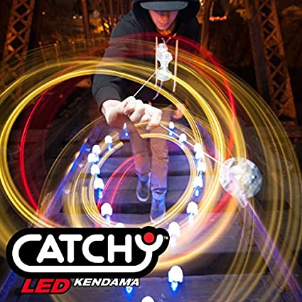 Amarillo Juguete Tradicional Japon/és, Iluminar, De Principiante a Profesional, Baterias Incluidas YoYo Factory Catchy LED Kendama