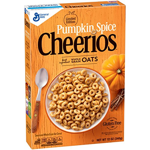 Pumpkin Spice Cheerios Limited Edition Cereal, 12 -
