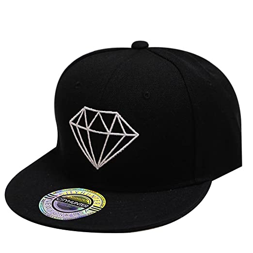 City Hunter Cf918 Solid Diamond Snapback Cap - 4 Colors (BLACK) at ... a8f1ae82b470
