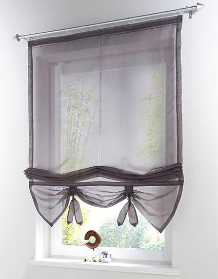 Amazon.com: Uphome 1pcs Liftable Organza Kitchen Balcony Curtains ...