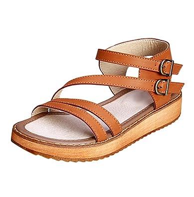 Yiiquan Damen Hohe Plattformen Casual Mode Sandalen Schnalle Dicker Boden Sommerschuhe