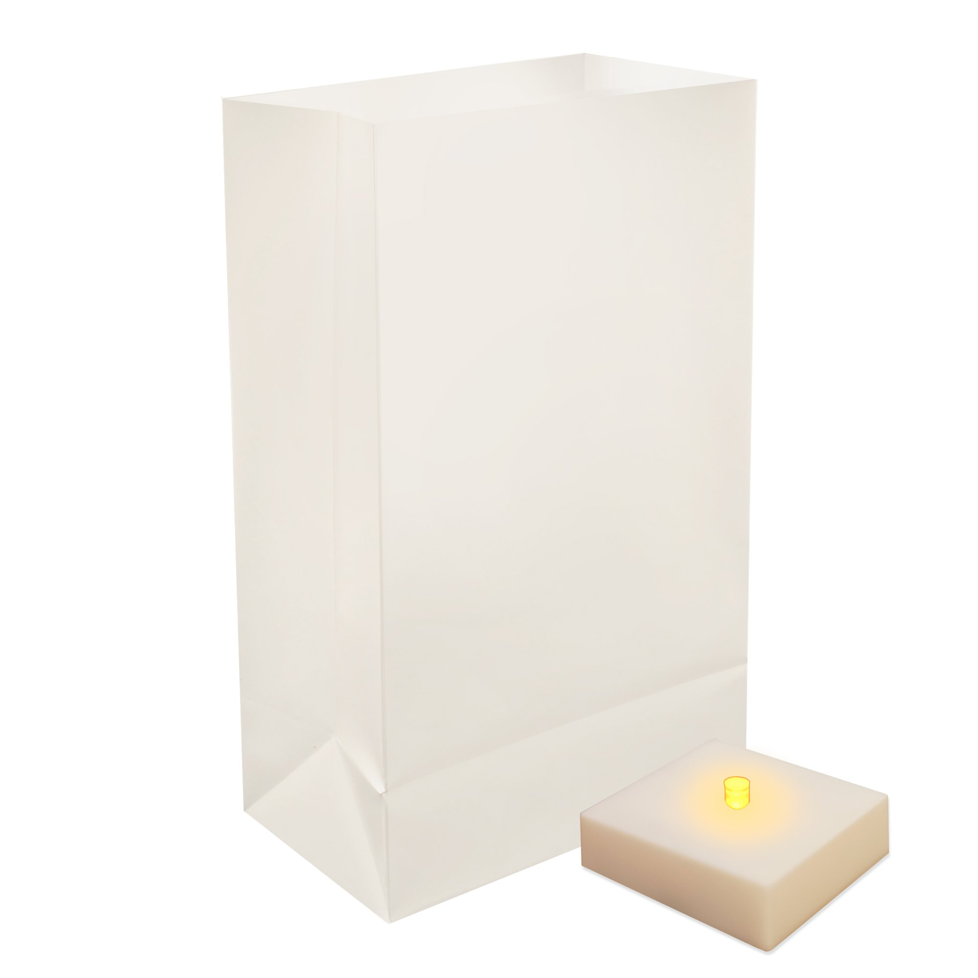 Lumabase 77006 6 Count Battery Operated Luminaria Kit with Timer, White by Lumabase